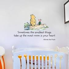 winnie the pooh wall art wall art ideas scheme of disney nursery wall stickers