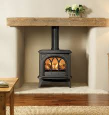 small gas stove fireplace. Plain Gas Small Gas Stove In Recessed Cream Fireplace To Gas Stove Fireplace