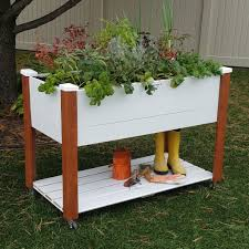 elevated garden bed. Vinyl Wrapped Elevated Garden Bed 24x47x33 - 11\