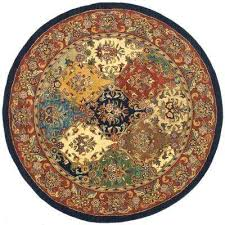 heritage multi burdy 10 ft x 10 ft round area rug