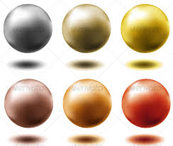 Decorative Metal Balls Set Of Metal Balls By Danielboom GraphicRiver 27