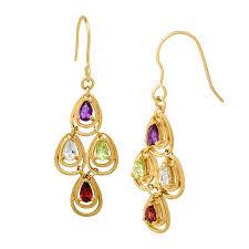 1 3 4 ct multi stone chandelier earrings
