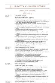 lead dental assistant resume samples dental assistant student resume
