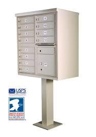 12 Tenant Door Cluster Box Unit With Pedestal
