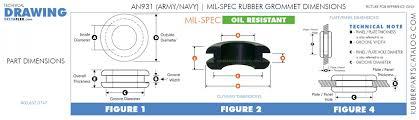 Mil Spec Chart An931 Mil Spec Rubber Grommet Oil Resistant Army Navy
