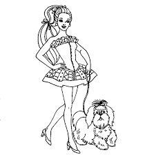 Disegni Per Bambini Barbie Porta A Spasso Il Cane Disegni Da