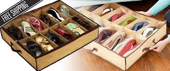 keep your shoes organised and tidy with this convenient under bed shoe storage box saves space and protects shoes from dust