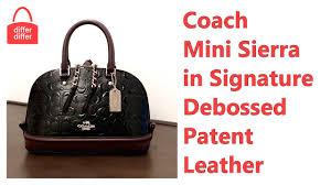 Coach Mini Sierra Satchel in Signature Debossed Patent Leather 55450
