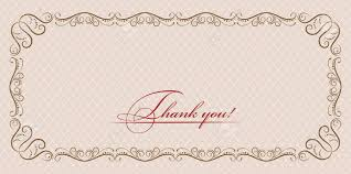 Thank You Card With Ornate Border