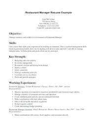 Fast Food Restaurant Manager Resume Mcdonalds Manager Resume Sample Resume For Fast Food