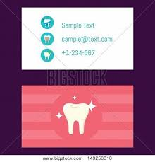 dental visiting card design dentist business card vector photo free trial bigstock