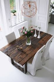 Image Light Rustic Table And Geometric Chandelier Custommadecom Rustic Table bykikise Industrial Design Pinterest Dining