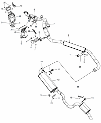 2014 chrysler town country exhaust system diagram i2302123