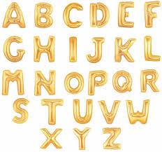 16 inch font b Gold b font Silver Alphabet font b Letters b font font b