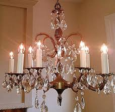 made in spain chandelier antique crystal chandelier large 5 arm light made in solid brass crystal