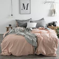 pink bedding set sheet pillowcase duvet cover nordic set princess bed sheet grey bedding pure cotton duvet cover cabin bedding custom bedding from kenedy