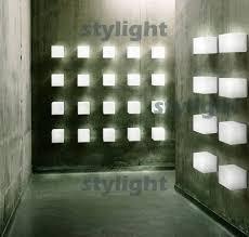 itre lighting. small size itre cubi wall lamp sconce ufficio stile italy design modern light satin glass dinning room living lighting