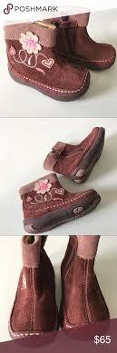 Primigi Baby Girl Brown Suede Flower Boots 21 5 5 Primigi