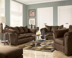 Living Room 3 Piece Sets Darcy Mocha Sofa Set