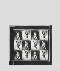 <b>Шарф С Принтом</b> Пазлом Karl Legend Guitar | Коллекции Karl ...