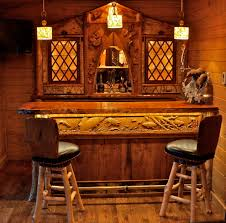 ... artistic wine bar decor idea with carved table also dim lights and  rustic stools ...