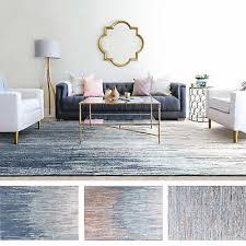 extra large rug grey blue orange tonal plush abstract lounges modern carpet mat
