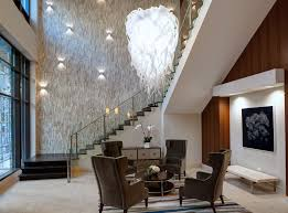 luxury apartment building lobby. exclusive resident lounge at amli river north, a luxury apartment community in chicago. building lobby
