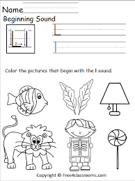 Our free phonics worksheets help kids trace the phonic sound letters and words. Free Beginning Sounds Worksheet Letter L Free4classrooms
