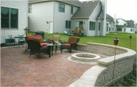 concrete patio with fire pit. Simple, Fun, Family Design Concrete Patio With Fire Pit
