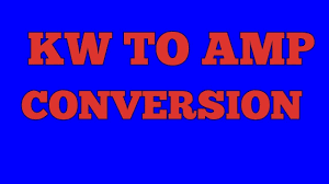 Kw To Amps Conversion Chart Kw To Amp Conversion Hindi