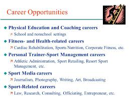 Sports Management Careers Chapter 10 Career And Professional Development In Physical