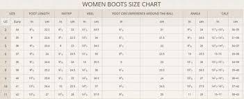 Footwear Size Chart