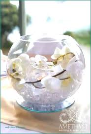 fish bowl table centerpiece ideas wedding decorations marvelous decorative bowls best beautiful fishbowl with white orchids