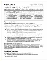 Teacher Resume Objective Custom Substitute Teacher Resume Objective Classy Teacher Resume Resume Cv