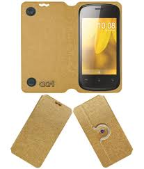 Celkon A75 Flip Cover by ACM - Golden ...