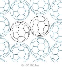Simple Soccer Balls | 160 Stitches | Digitized Quilting Designs & Digital Quilting Design Simple Soccer Balls by 160 Stitches. Adamdwight.com