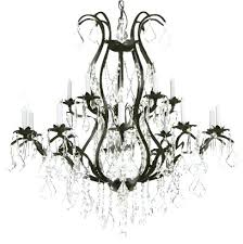 black wrought iron and crystal chandelier as well as small wrought iron crystal chandelier wrought iron