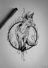 Tattoo Design Fox Ink Tatoeage Ideeën Vos Tatoeages En Schets