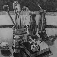 Image Clipart Fine Art America Kitchen Utensils Still Life Art Print