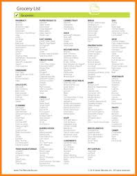 grocery checklist grocery checklist template contact information form template