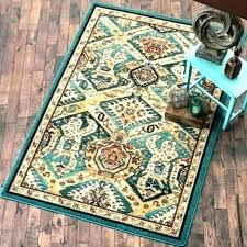 turquoise rug target blue round area rugs at home goods brown and