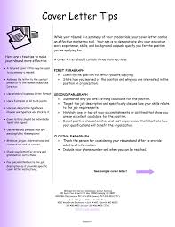 Cover Letter Writing Tips Experience Resumes