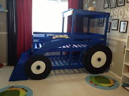 blue kids furniture. Kids Tractor Bed Blue Furniture .