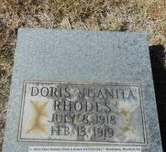 Doris Juanita Rhodes (1918-1919) - Find A Grave Memorial