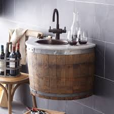 image of small barrel sink