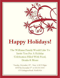 Free Christmas Invitation Template Free Holiday Invitation Templates Word Party Invitations