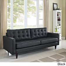 modern comfortable couch. Modren Modern Modway Empress Tufted Bonded Leather Sofa Empress In Black And Modern Comfortable Couch