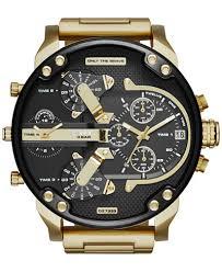 diesel watches at macy s diesel watch macy s diesel men s mr daddy 2 0 gold tone ion plated stainless steel bracelet watch