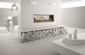 heat glo mezzo 1300st see through gas fireplace package