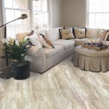Travertine Flooring Kitchen 12 In X 24 In Light Grey Travertine Peel And Stick Vinyl Tile